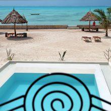 Ngalawa in Pool at NUR Beach Resort, Jambiani
